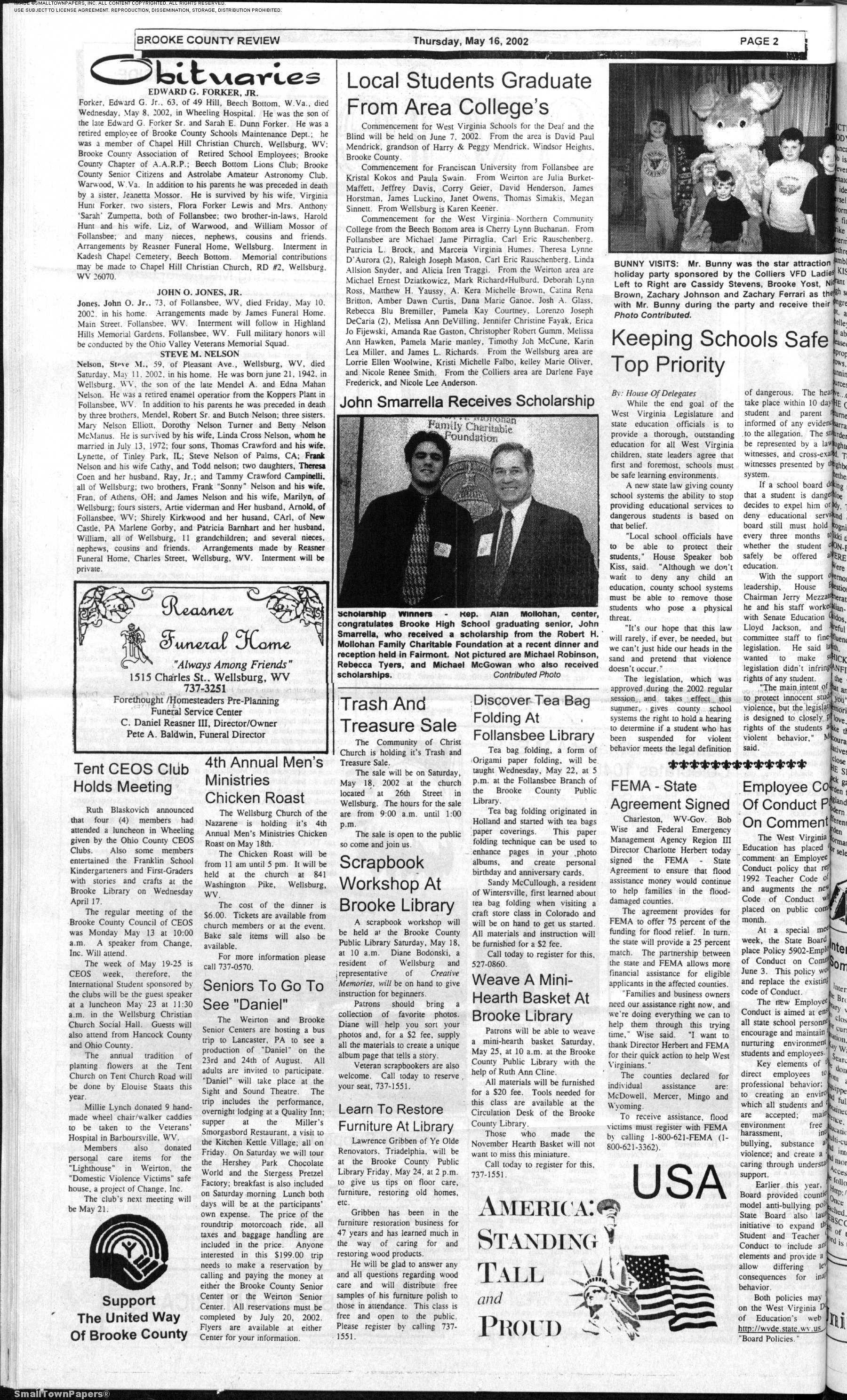 The Brooke County Review May 16 2002 Page 2